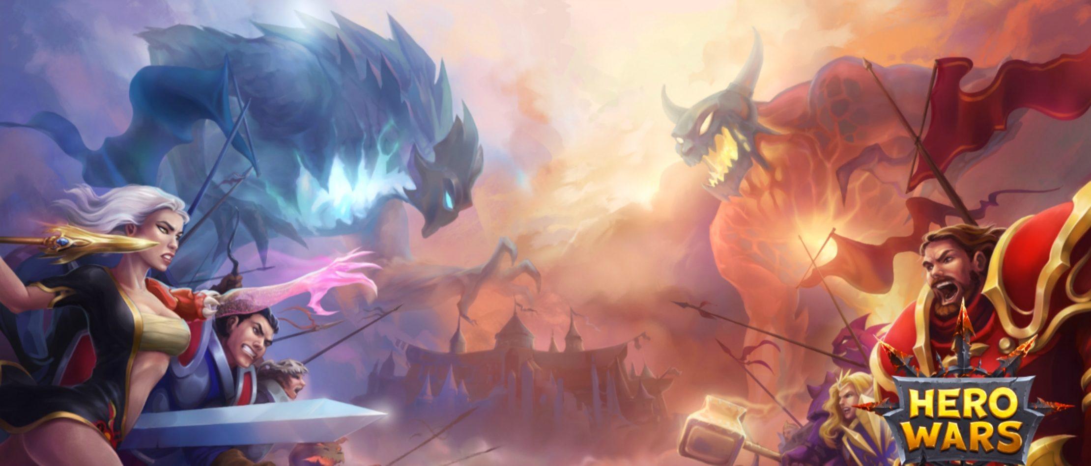 【初心者向け】Hero wars(ヒーローウォーズ/アプリ)のレベル上げのコツ・スキル・ギルドについて解説!