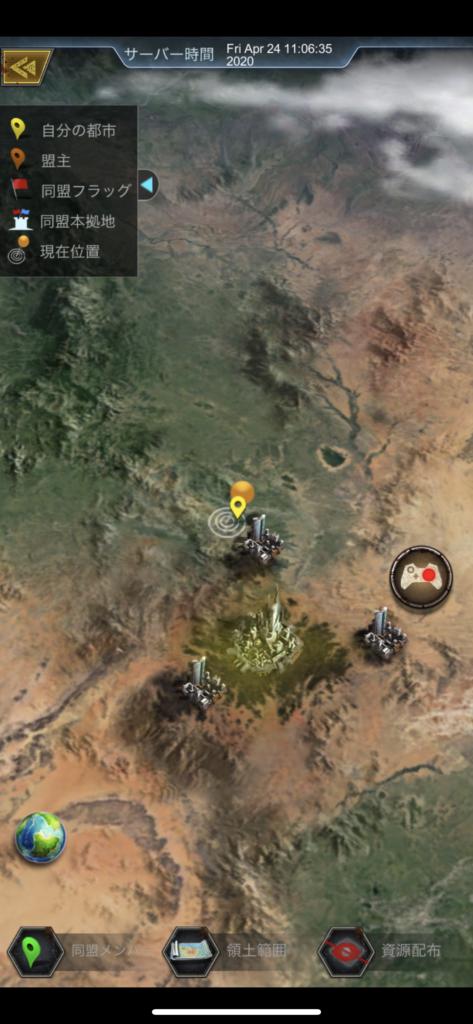 エイジオブゼットのワールド画面