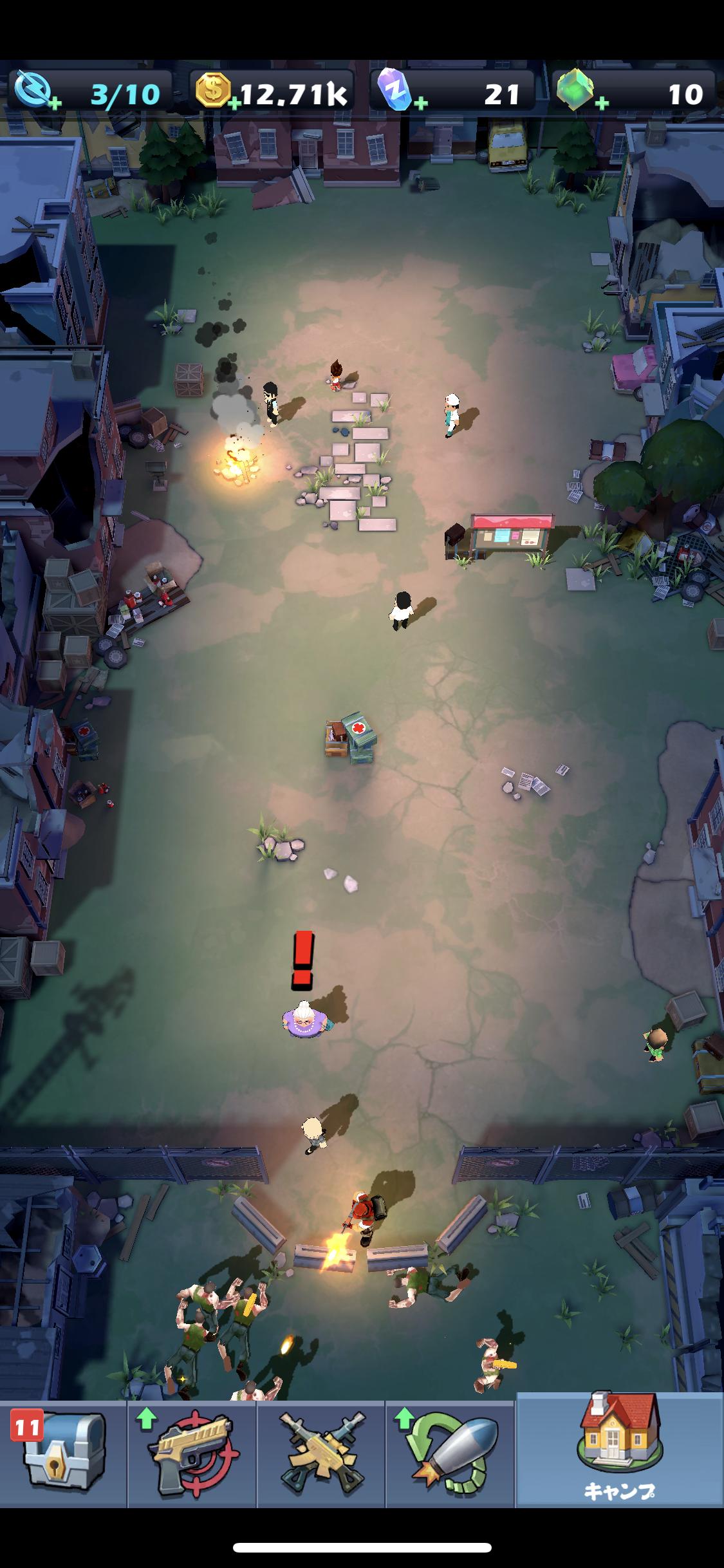「Mow Zombies」キャンプ全体図