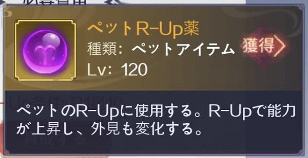 天姫契約 ペットR-Up薬