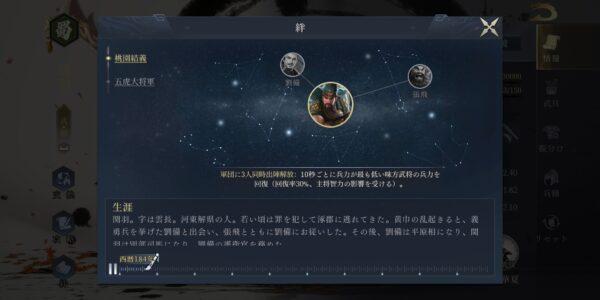 今三国志の絆画面
