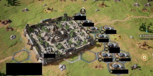 今三国志の都市の周りに砦建設